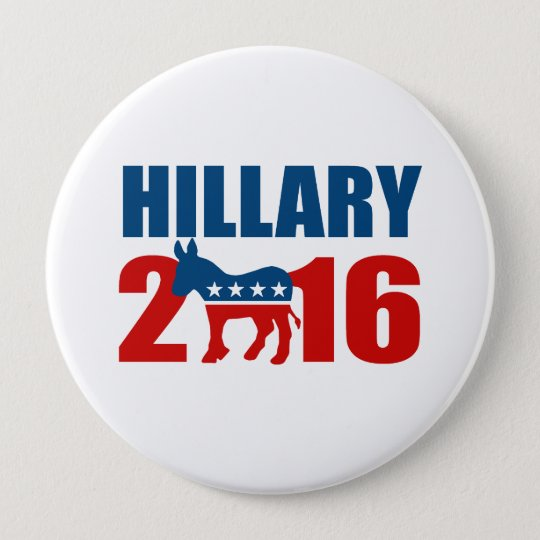 HILLARY CLINTON DEMOCRAT 2016.png Pinback Button
