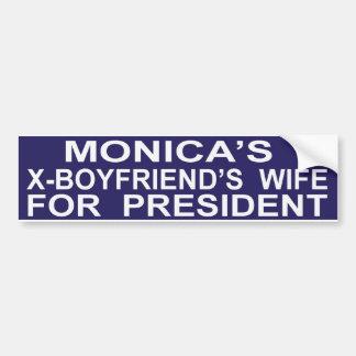 Hillary Clinton divertida para presidente Sticker Pegatina De Parachoque