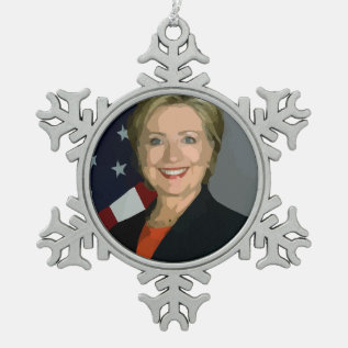 Hillary Clinton Election 2016 Pewter Ornament at Zazzle