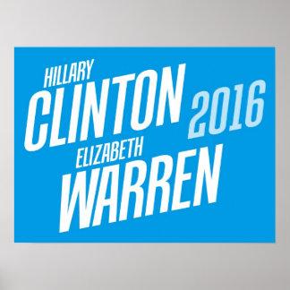Hillary Clinton / Elizabeth Warren 2016 Poster
