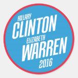 Hillary Clinton - Elizabeth Warren 2016 Stickers
