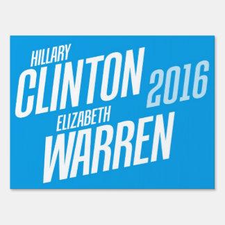 Hillary Clinton/Elizabeth Warren muestra de 2016 y Carteles