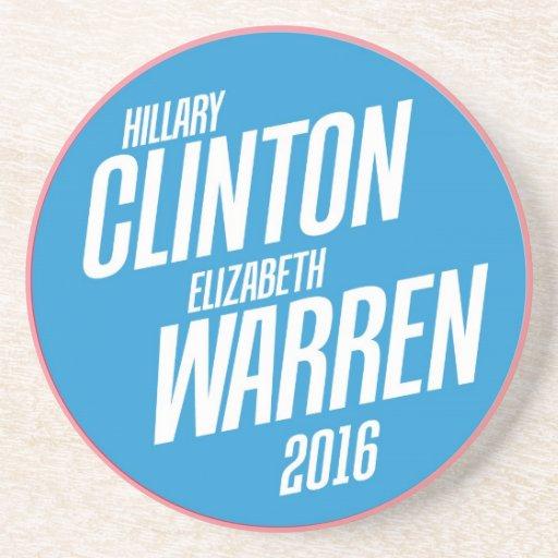 Hillary Clinton / Elizabeth Warren Stone Coaster