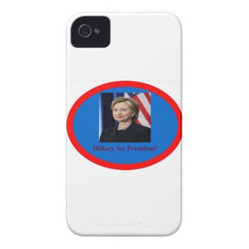 Hillary Clinton en 2016 Case-Mate iPhone 4 Fundas