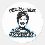 Hillary Clinton es mi homegirl Pegatina Redonda