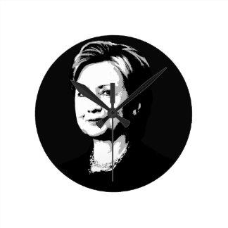 Hillary Clinton Face Round Wall Clock