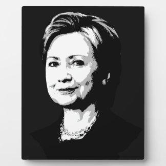 Hillary Clinton Face Display Plaque