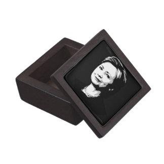 Hillary Clinton Face Premium Trinket Box