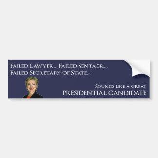 Hillary Clinton - Failure Car Bumper Sticker