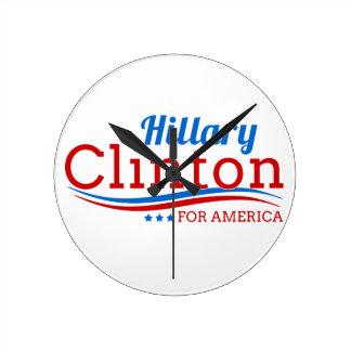 Hillary Clinton for America Round Clock