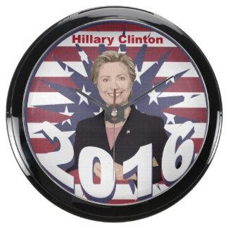 Hillary Clinton for President 2016 Aqua Clock