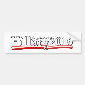 Hillary Clinton for President 2016 Car Bumper Sticker