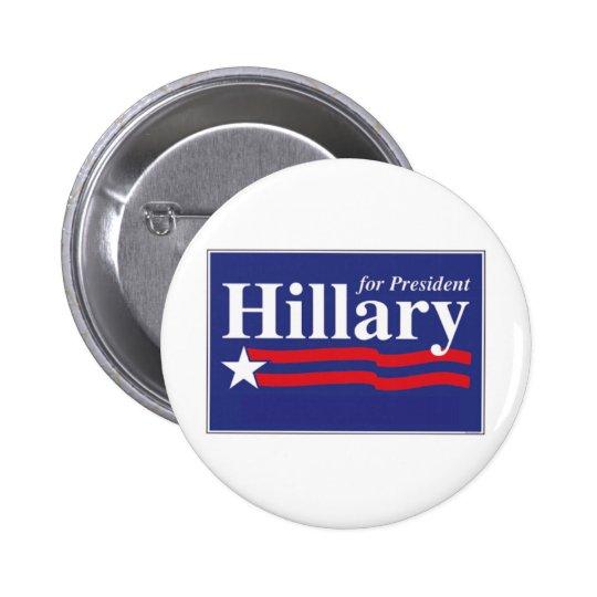 Hillary Clinton For President 2016 Button Pin