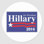 Hillary Clinton for President 2016 Classic Round Sticker
