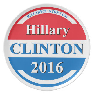 Hillary Clinton for President 2016 Dinner Plate