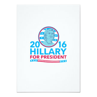 Hillary Clinton for President 2016 4.5x6.25 Paper Invitation Card