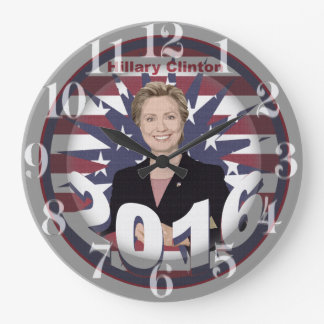 Hillary Clinton for President 2016 Large Clock