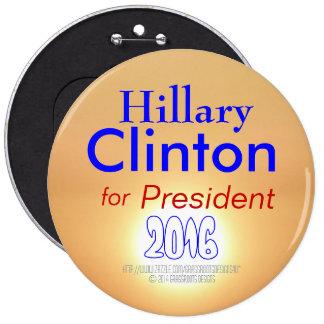 Hillary Clinton for President 2016 on Real Sun Button