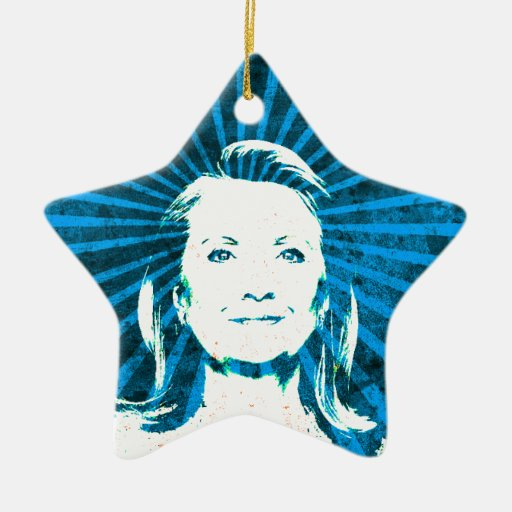 Hillary Clinton for President 2016 Double-Sided Star Ceramic Christmas Ornament