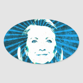 Hillary Clinton for President 2016 Oval Sticker