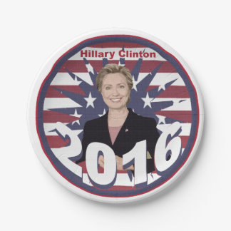 Hillary Clinton for President 2016 Paper Plate