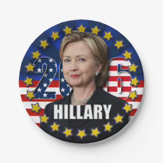 Hillary Clinton for president 2016 Paper Plates