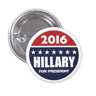 Hillary Clinton for president 2016 Pinback Button