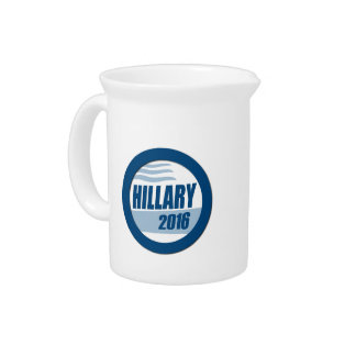 HILLARY CLINTON FOR PRESIDENT 2016 PITCHERS