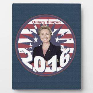 Hillary Clinton for President 2016 Display Plaques