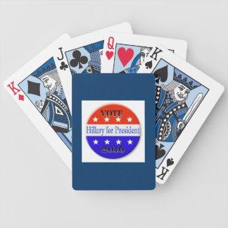 HILLARY CLINTON FOR PRESIDENT 2016 BICYCLE POKER CARDS