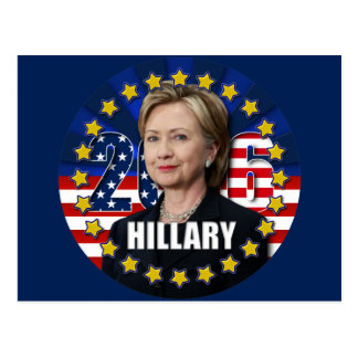 Hillary Clinton for president 2016 Postcard