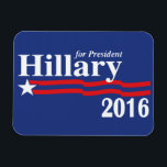 "Hillary Clinton For President 2016 Premium Magnet<br><div class=""desc"">Hillary Clinton For President 2016 Premium Flexi Fridge/Car Magnet Now that President Obama has been re-elected to lead our nation for another 4 years, it&#39;s time to look ahead and let Hillary Clinton know, that she is the next in line for the democrats! Lets help her become the first female...</div>"