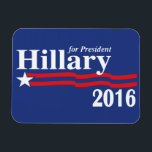 """Hillary Clinton For President 2016 Premium Magnet<br><div class=""""desc"""">Hillary Clinton For President 2016 Premium Flexi Fridge/Car Magnet Now that President Obama has been re-elected to lead our nation for another 4 years, it&#39;s time to look ahead and let Hillary Clinton know, that she is the next in line for the democrats! Lets help her become the first female...</div>"""