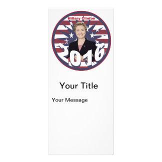 Hillary Clinton for President 2016 Rack Card