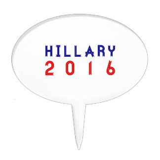 Hillary Clinton for President 2016 Ribbon Text Cake Topper