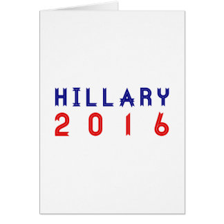 Hillary Clinton for President 2016 Ribbon Text Card