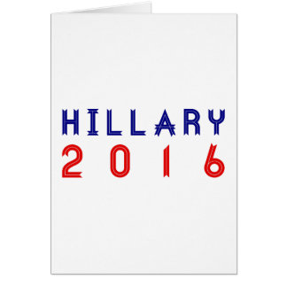 Hillary Clinton for President 2016 Ribbon Text Greeting Card