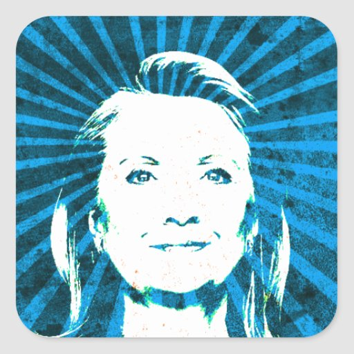 Hillary Clinton for President 2016 Square Sticker