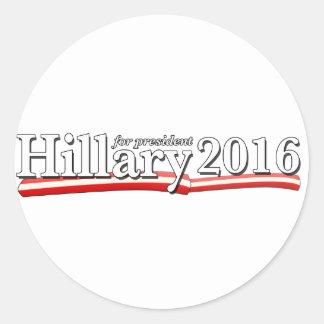 Hillary Clinton for President 2016 Round Sticker