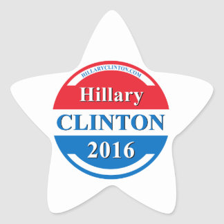 Hillary Clinton for President 2016 Star Stickers