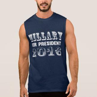 Hillary Clinton for President 2016 Sleeveless Shirts