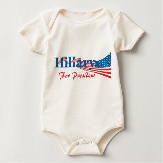 Hillary Clinton For President Baby Bodysuit