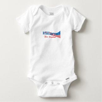 Hillary Clinton For President Baby Onesie