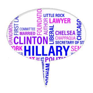 Hillary Clinton for President Cake Topper