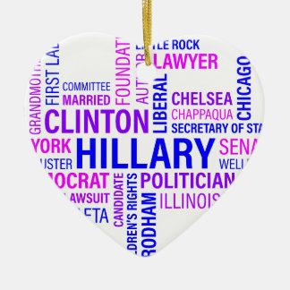 Hillary Clinton for President Ceramic Ornament
