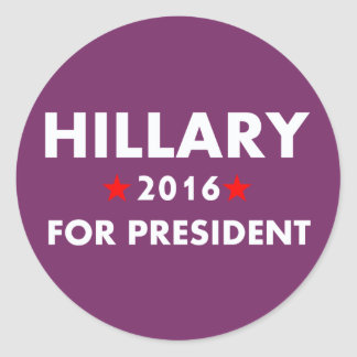 Hillary Clinton For President Classic Round Sticker