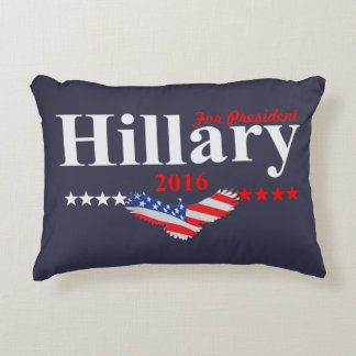 Hillary Clinton For President Decorative Pillow