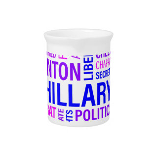 Hillary Clinton for President Drink Pitcher