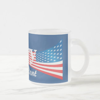 Hillary Clinton For President Frosted Glass Coffee Mug