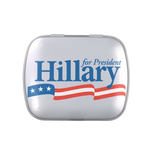 Hillary Clinton for President in 2016 Jelly Belly Candy Tin